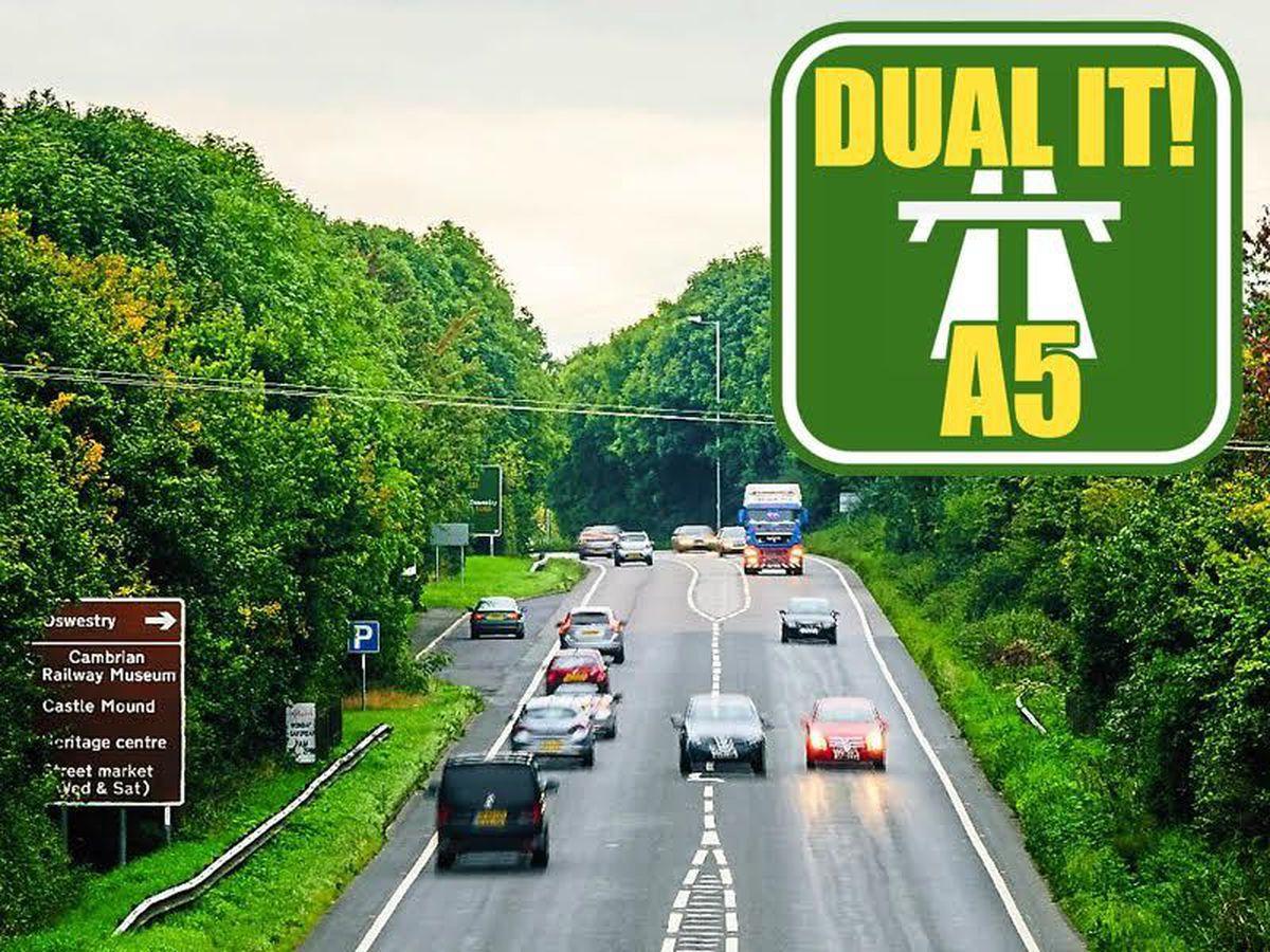 The A5 near Oswestry