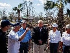 Trump tours hurricane damage in Florida