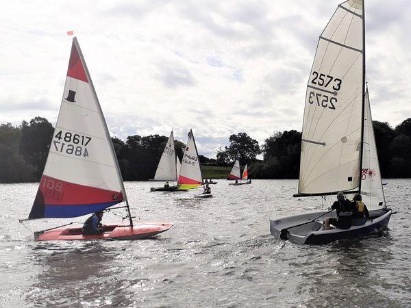 Sailing at Whitemere