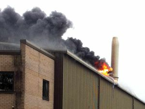 Pictures: Eight fire crews tackle Shrewsbury factory blaze