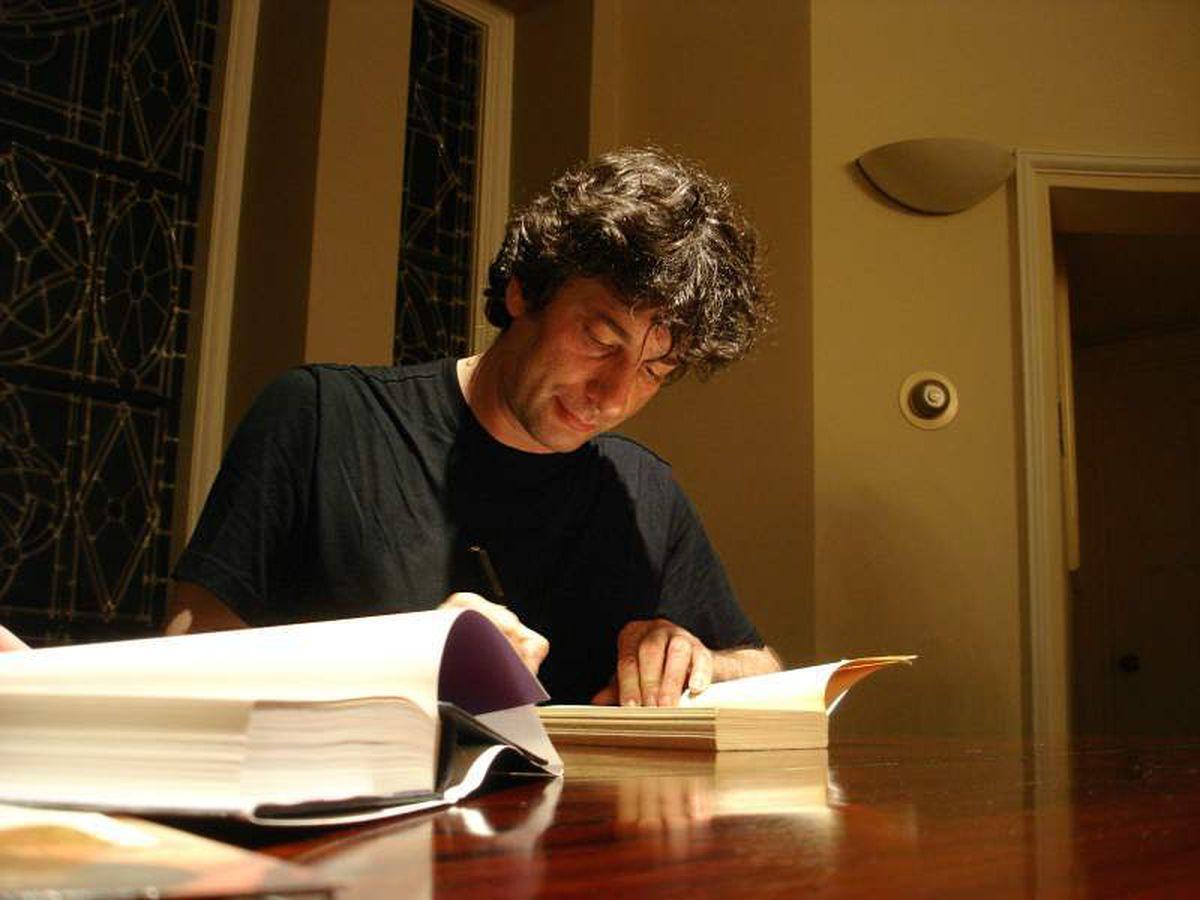 Neil Gaiman – high flyer (Photo: Jutta)