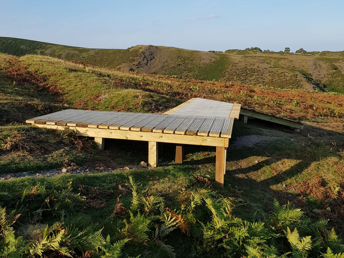This structure has appeared on Long Mynd