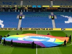 Two visiting fans arrested for homophobic abuse at Brighton-Wolves game