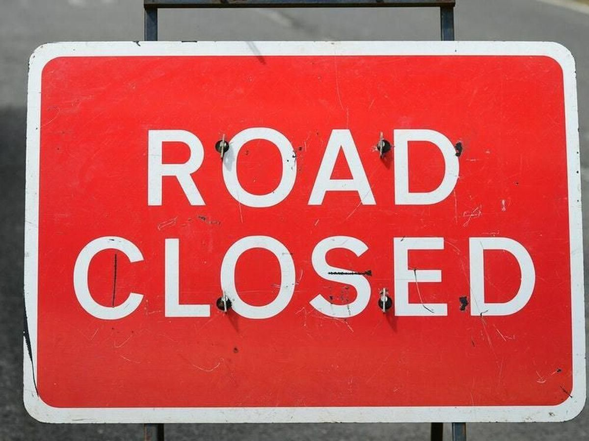 The road will close at 6pm.
