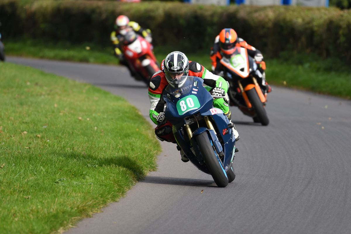 Furber leads a train of riders at Oliver's Mount. Picture: ottpix@btinternet.com