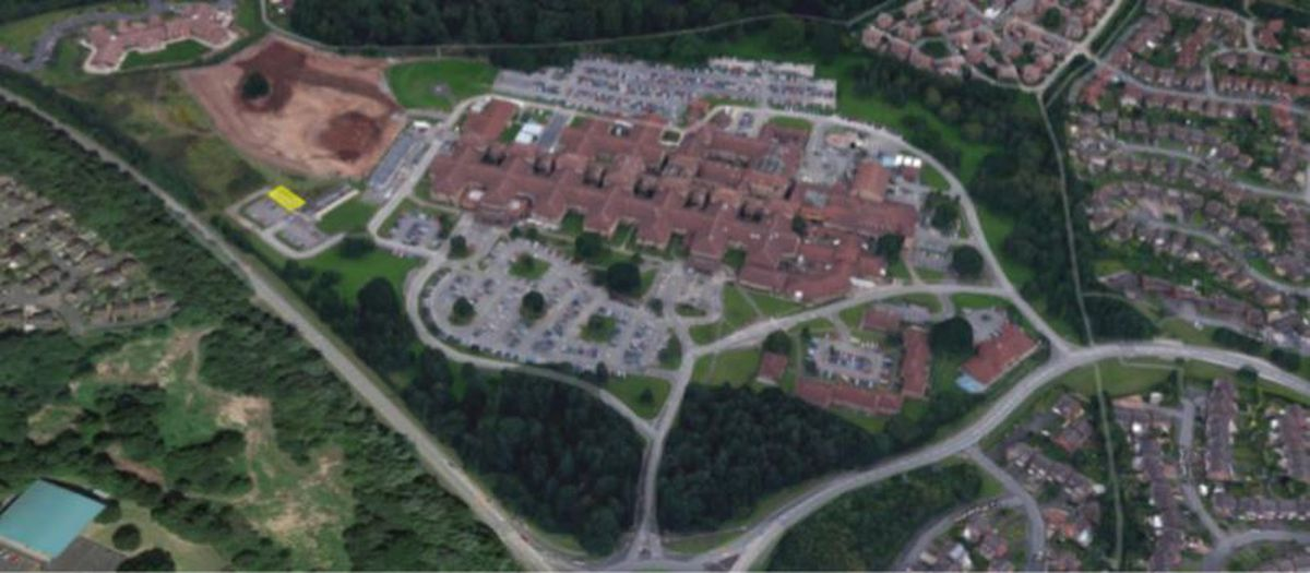 The new building is planned on land to the west of the main Princess Royal Hospital buildings. Picture: Nicholas Taylor and Associates, Catfoss Ltd.