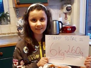 Grace Davies one of the brownies to organised the appeal