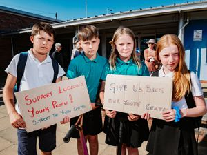 The Lynch children are among those to have protested Shropshire Council's restrictions on Ludlow Youth Centre