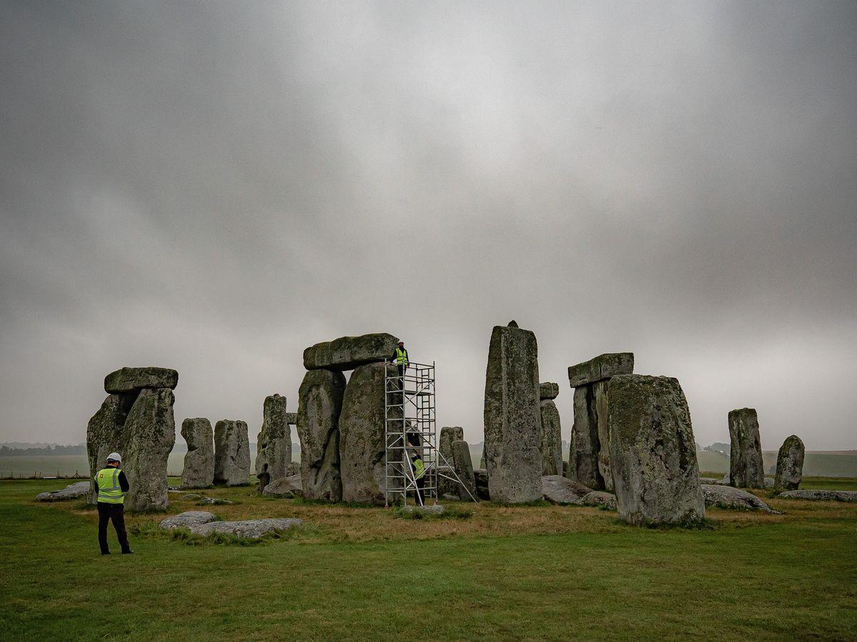 Scaffolding at Stonehenge