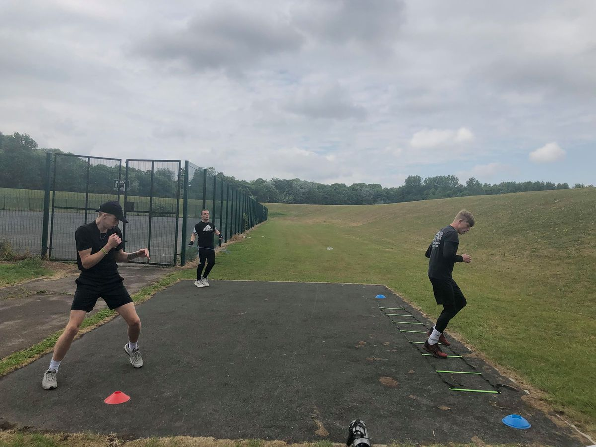Fighters from Telford ABC are having to make do with outdoor sessions as they await a return to the ring