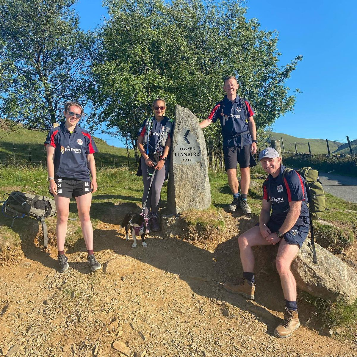 Some of the team at the start of the Llanberis Path