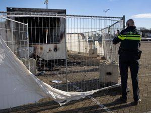 Coronavirus testing facility set on fire