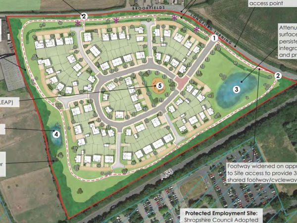 Indicative plans show how the development could take shape.