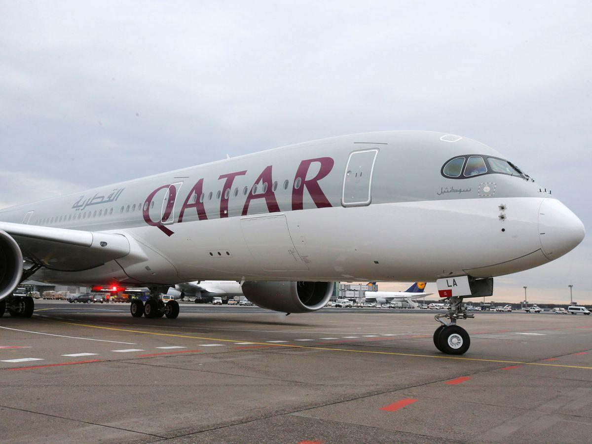 A Qatar Airways Airbus A350