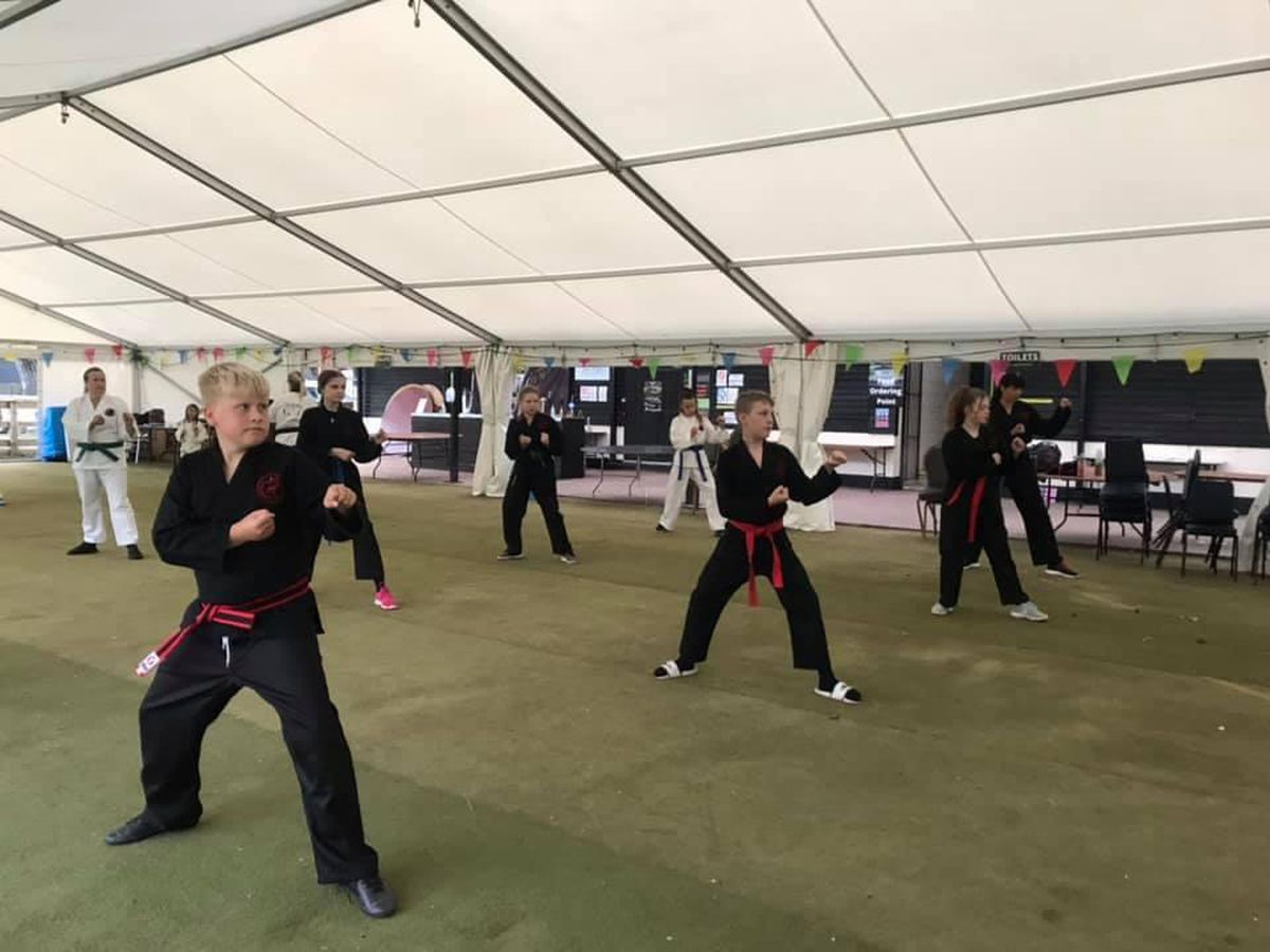 Bridgnorth Tae Kwon-Do using the marquee