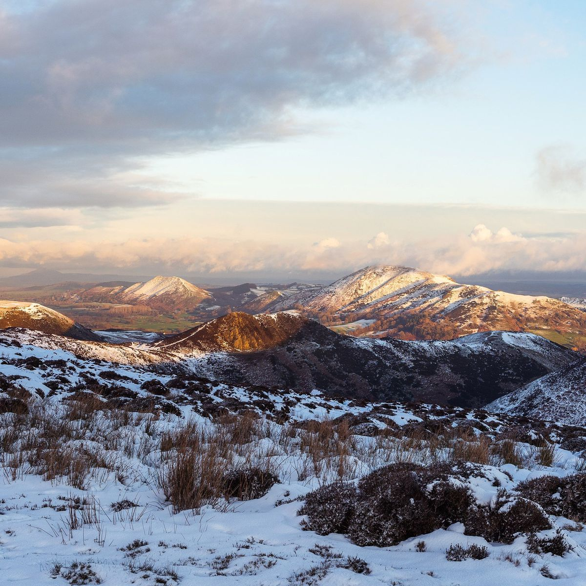 Snow on the Long Mynd this week. Photo: Andrew Farrow @fffarrow