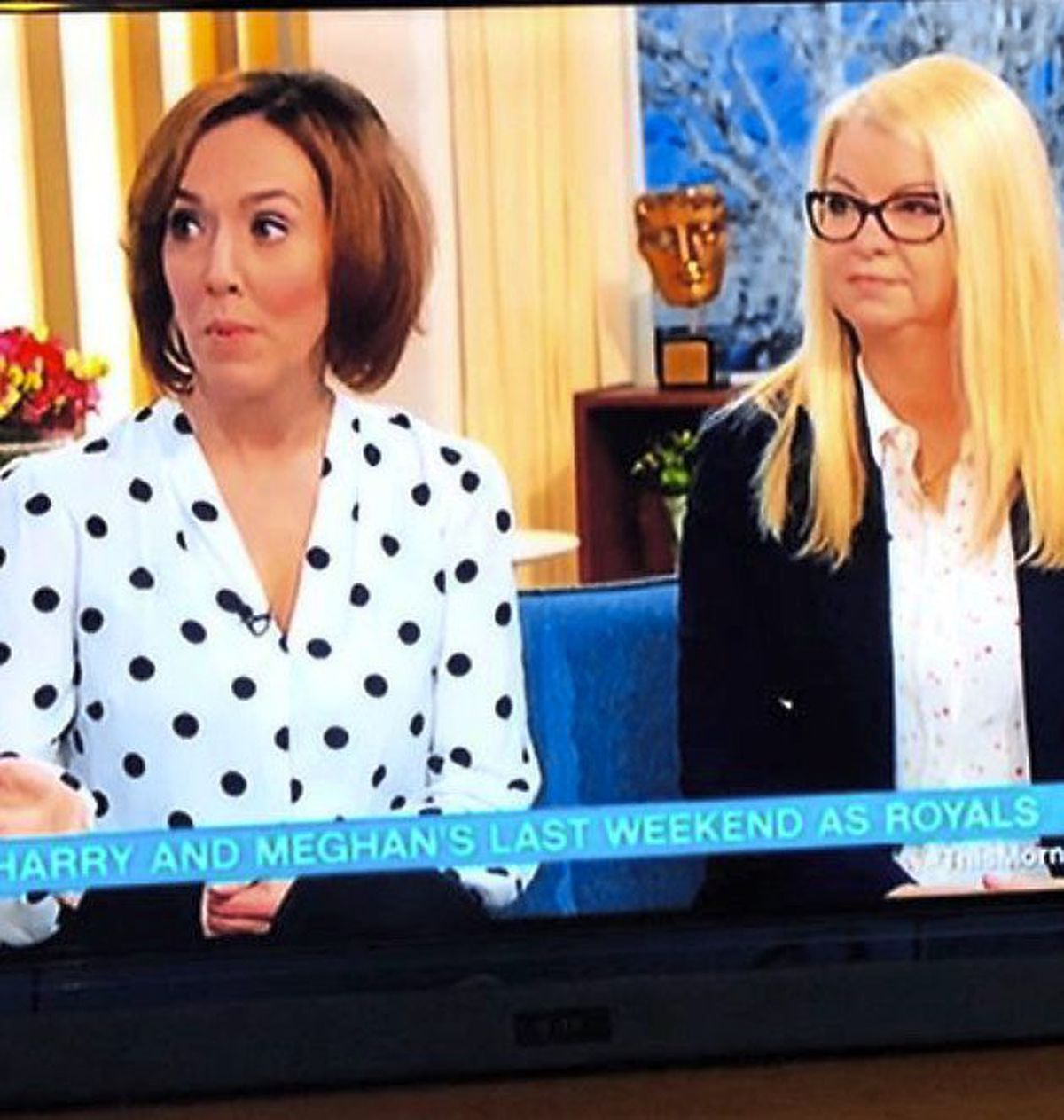 Adrianne on This Morning discussing Prince Harry and Megan's body language