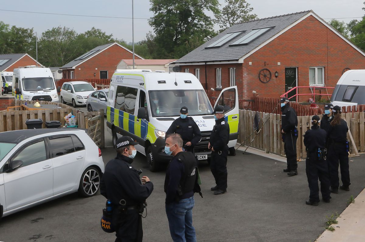 More than 80 police officers took part in the operation. Picture: Phil Blagg.