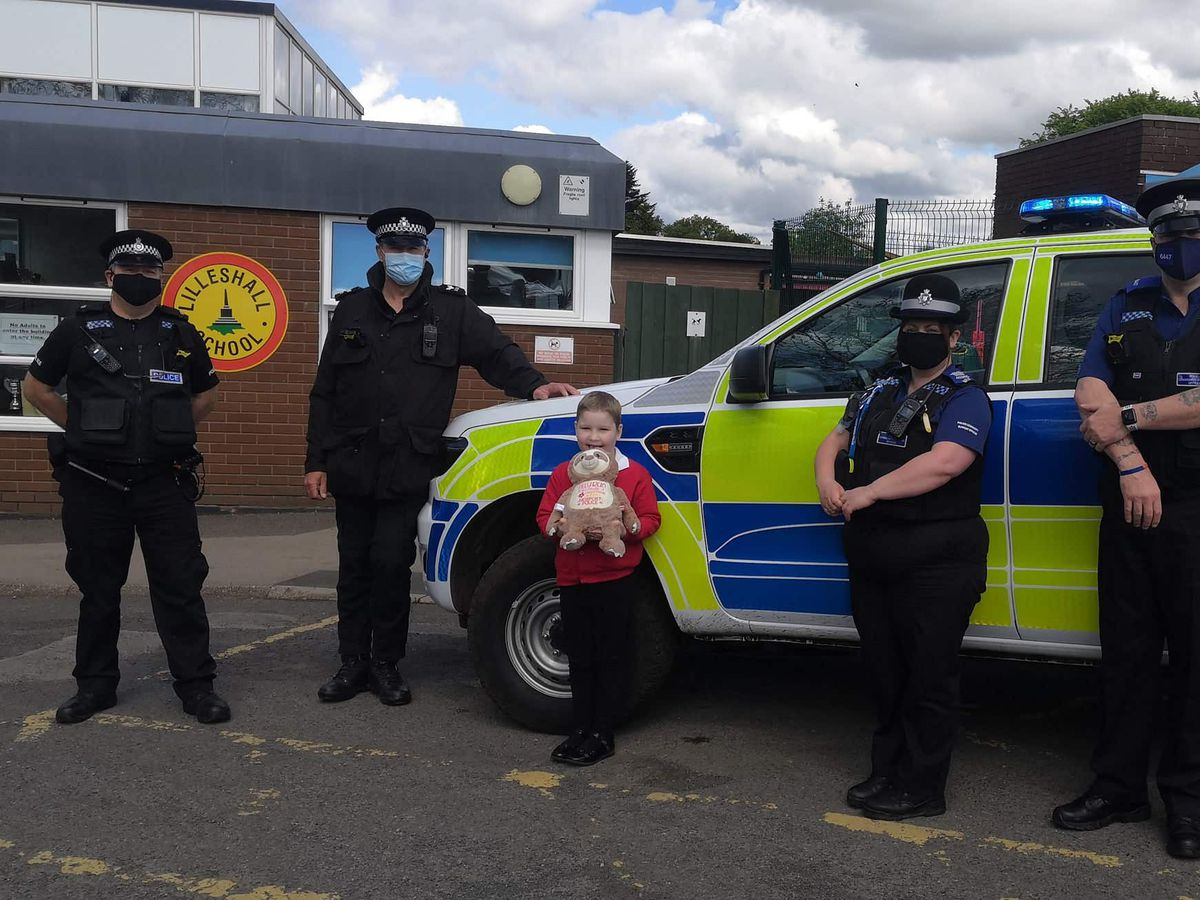 Tilly and the officers at her school