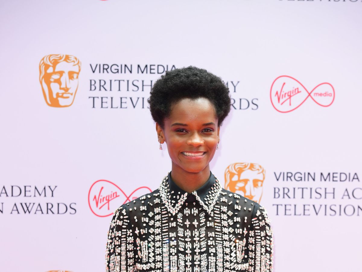 Letitia Wright on a red carpet