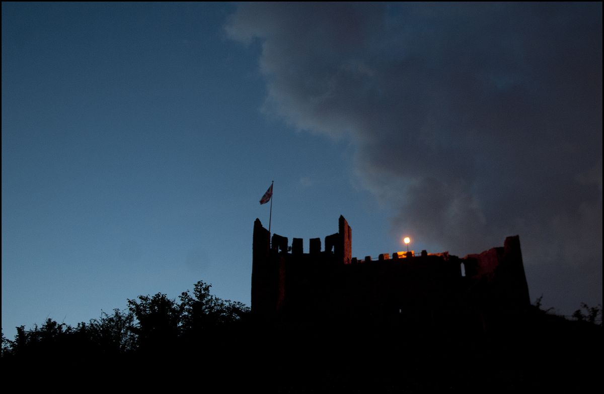 Diamond Jubilee beacon atop the 11th century Dudley Castle