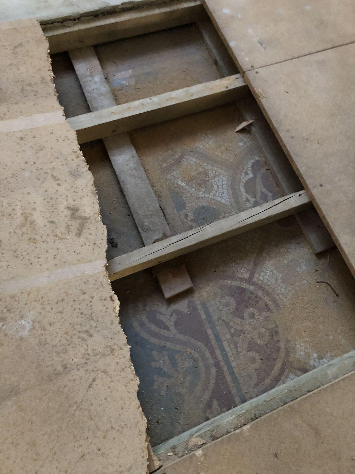 The Pugin flooring was uncovered at Shrewsbury Cathedral. Picture: Shrewsbury Cathedral