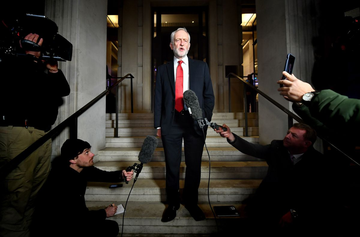 Labour Party leader Jeremy Corbyn on the campaign trail