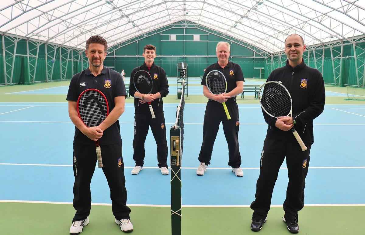 Ellesmere College's tennis coaching team