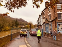 Flood barriers go up in Ironbridge as county remains on alert