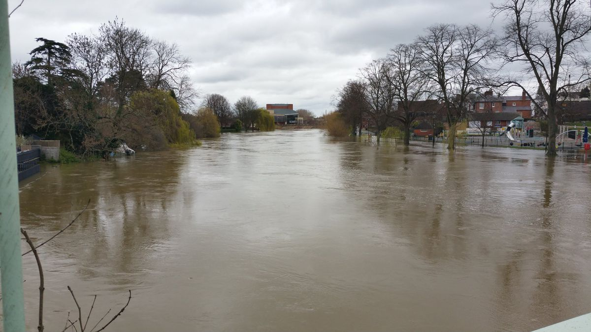 The view from Porthill Footbridge in Shrewsbury. Photo: Tim Vasby-Burnie