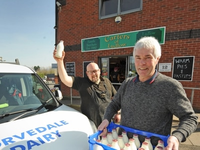 Back to the future as Shropshire milkmen overwhelmed with orders