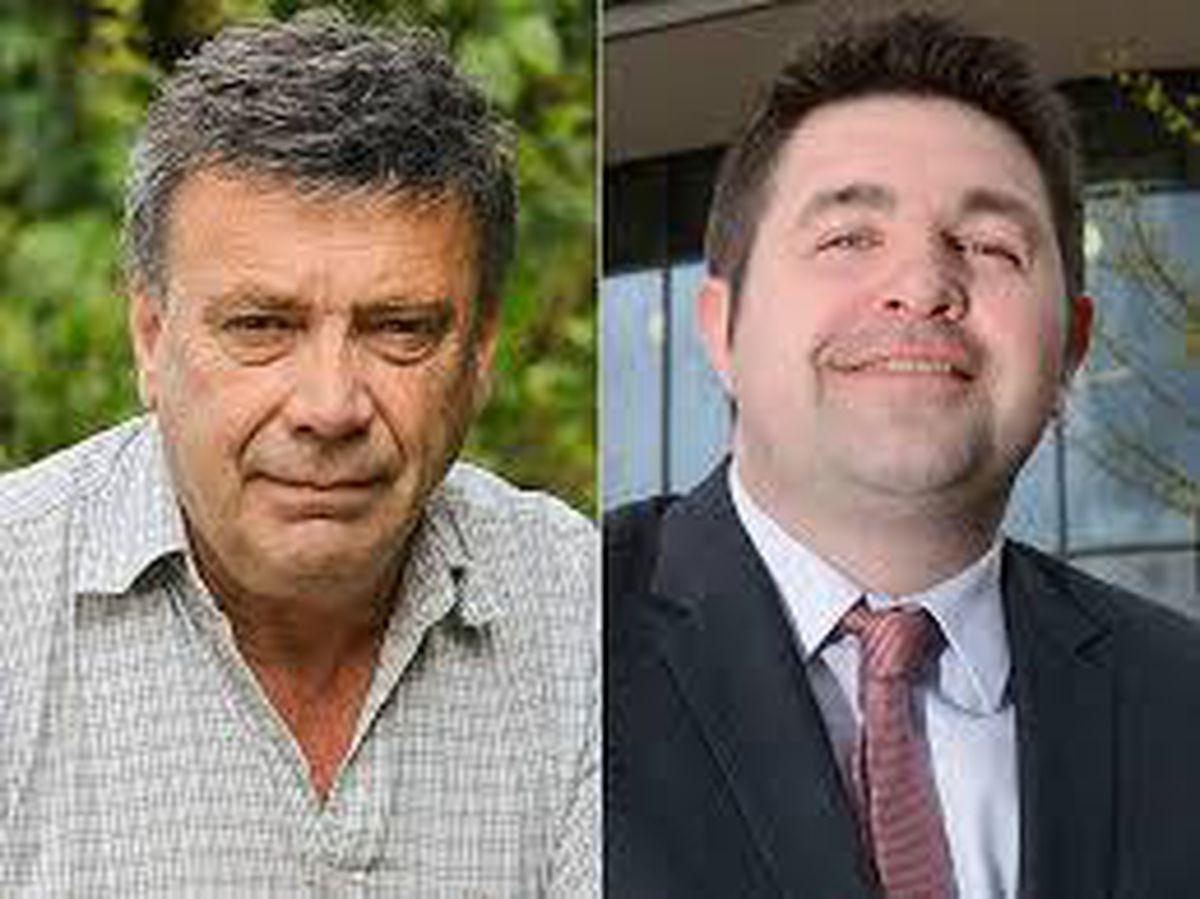 Councillor Andrew Eade and Telford & Wrekin council leader Shaun Davies