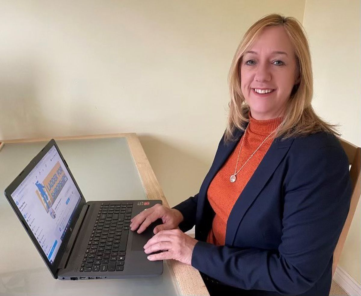 Amanda Carpenter, project officer for the Ladder for Shropshire