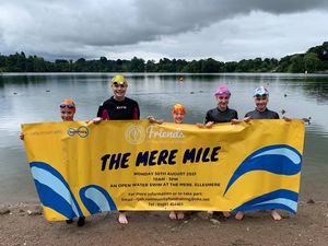 Some of the younger swimmer who will be taking part  in the Mere Mile