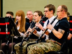 The Band and Bugles of The Rifles entertain pupils at Newport school - with pictures and video