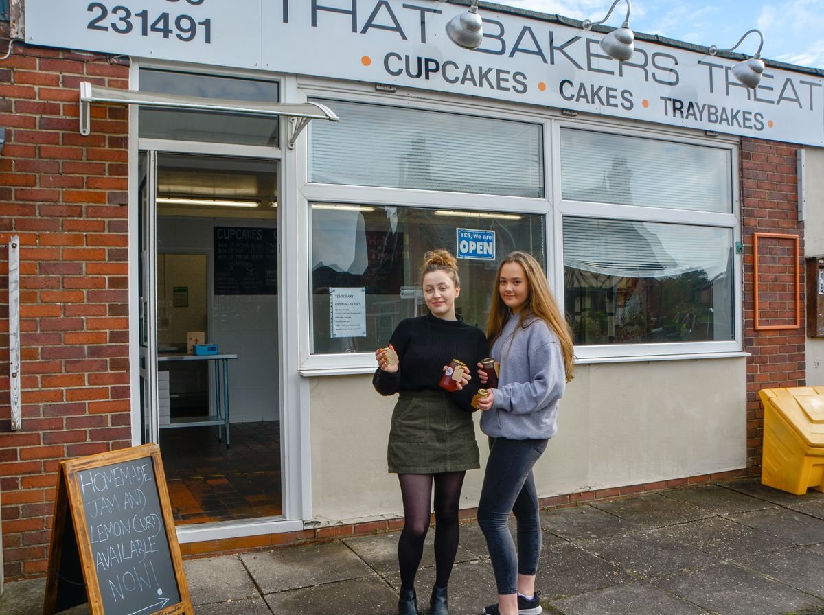 Bethany Beeson, left, and Chloe Cornall, right, open new bakery in Ellesmere