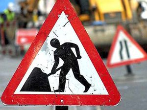 Three-way traffic lights for Shrewsbury road while cable work takes place
