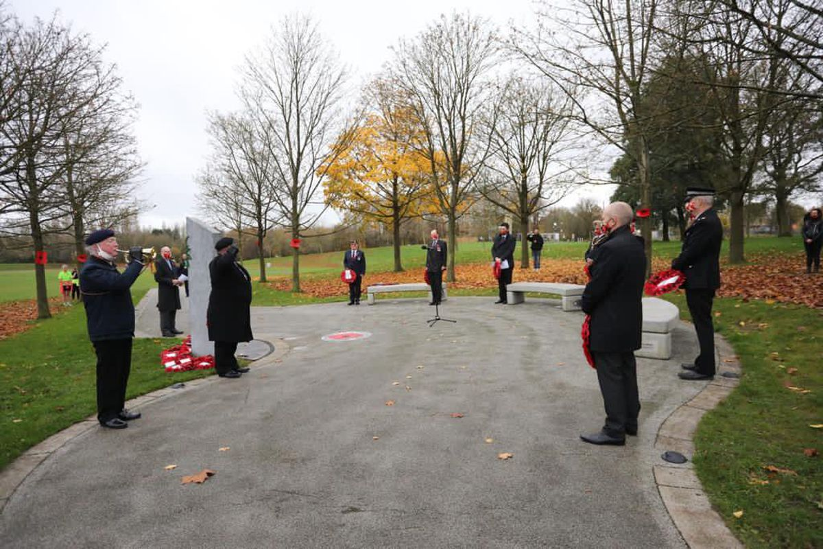 A small service was held in Telford Town Park