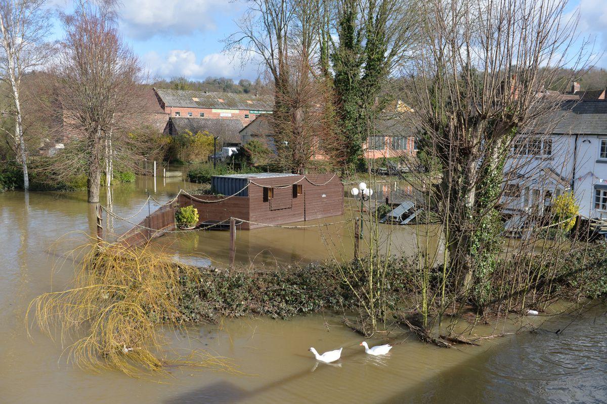 Flooding experienced in Bridgnorth