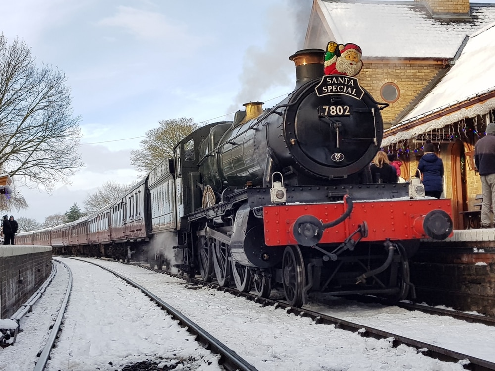 Extra SVR Santa Steam Special after snow cancels train
