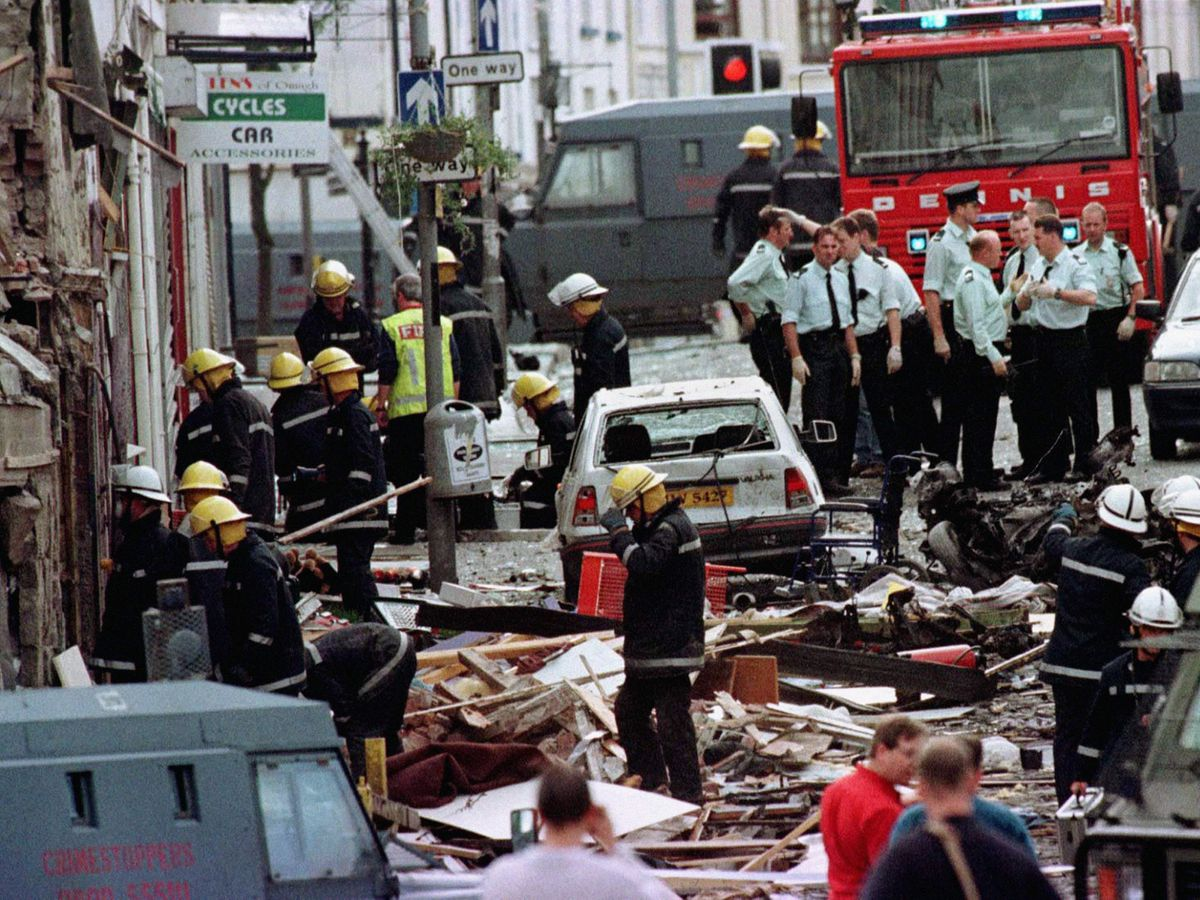 The scene after the Omagh bomb in August 1998