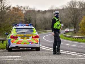 RETRANSMITTED CORRECTING SPELLING OF CARMARTHENSHIRE..Welsh police pull over cars at a checkpoint during firebrake vehicle patrols close to the border between Carmarthenshire and Pembrokeshire, Wales. First Minister Mark Drakeford will unveil new national coronavirus measures for Wales on Monday. PA Photo. Picture date: Monday November 2, 2020. The restrictions will come into force when Wales' 17-day firebreak lockdown expires on November 9, four days after England begins its own initial four-week lockdown. See PA story HEALTH Coronavirus. Photo credit should read: Ben Birchall/PA Wire.