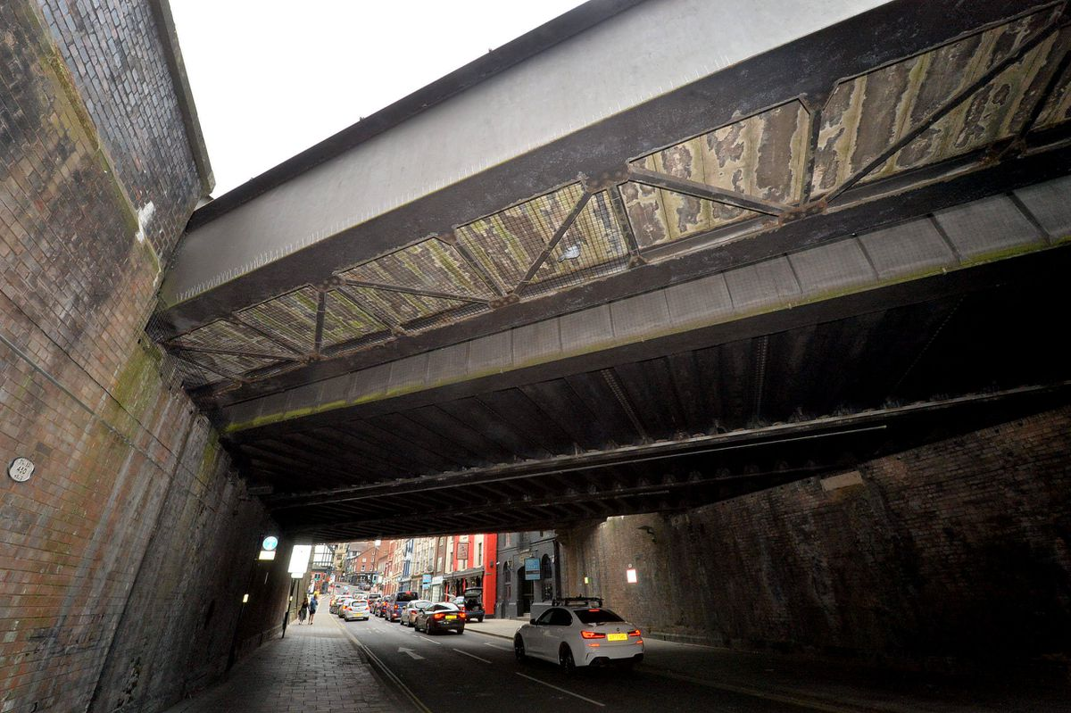 Mesh has been introduced underneath the bridge to 'pigeon-proof' it