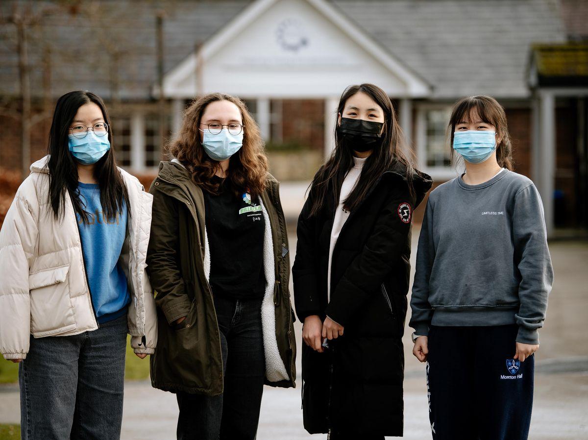 Jo Zhou 16, Deanna Mason 17, Annie An 17 and Cathy Xie 17