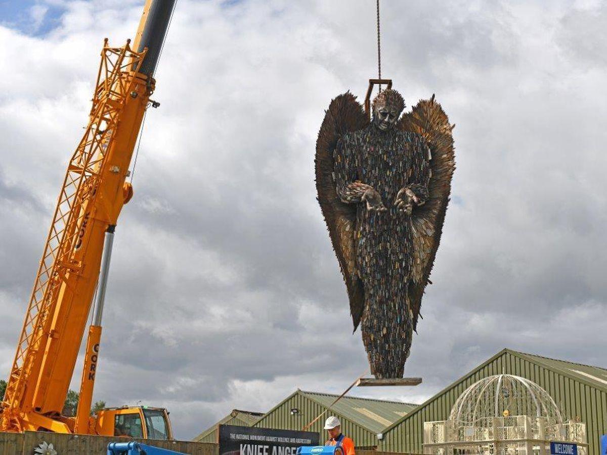 The angel leaves Shropshire