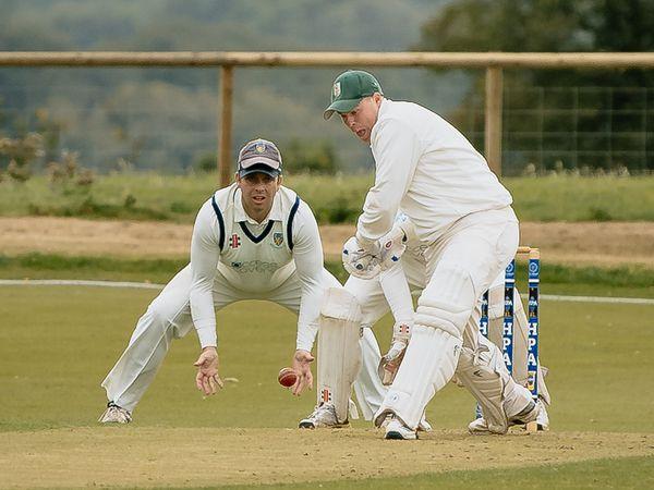 Worfield Cricket Club (Batting) vs Wellington Cricket Club (Fielding).