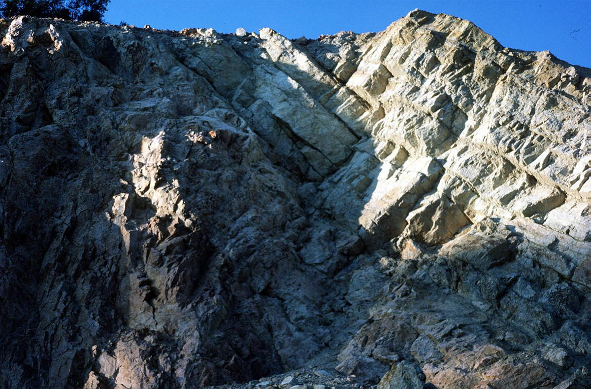 When worlds collide – this picture by Susan Beale shows The Ercall unconformity.