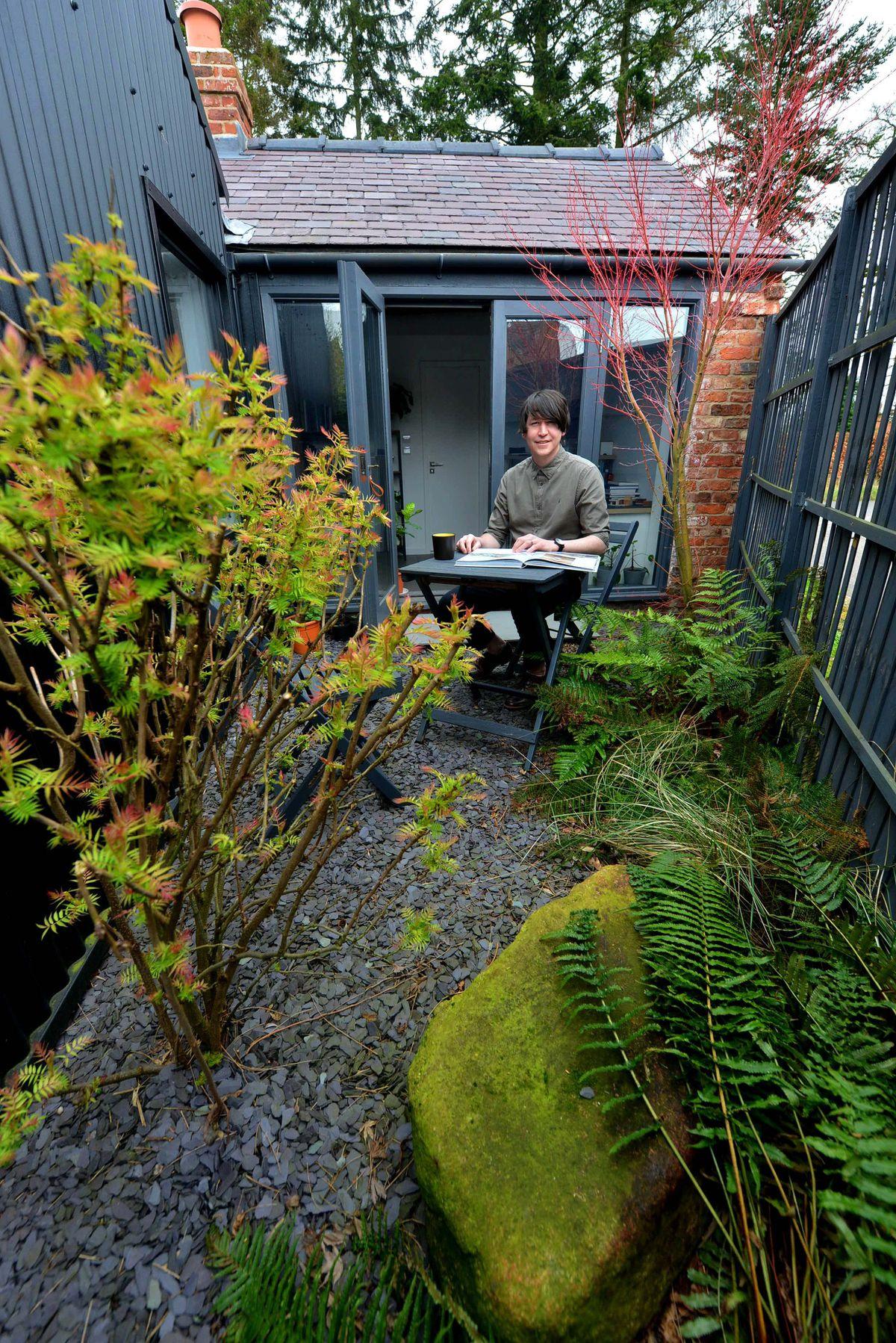 Philip in the courtyard garden