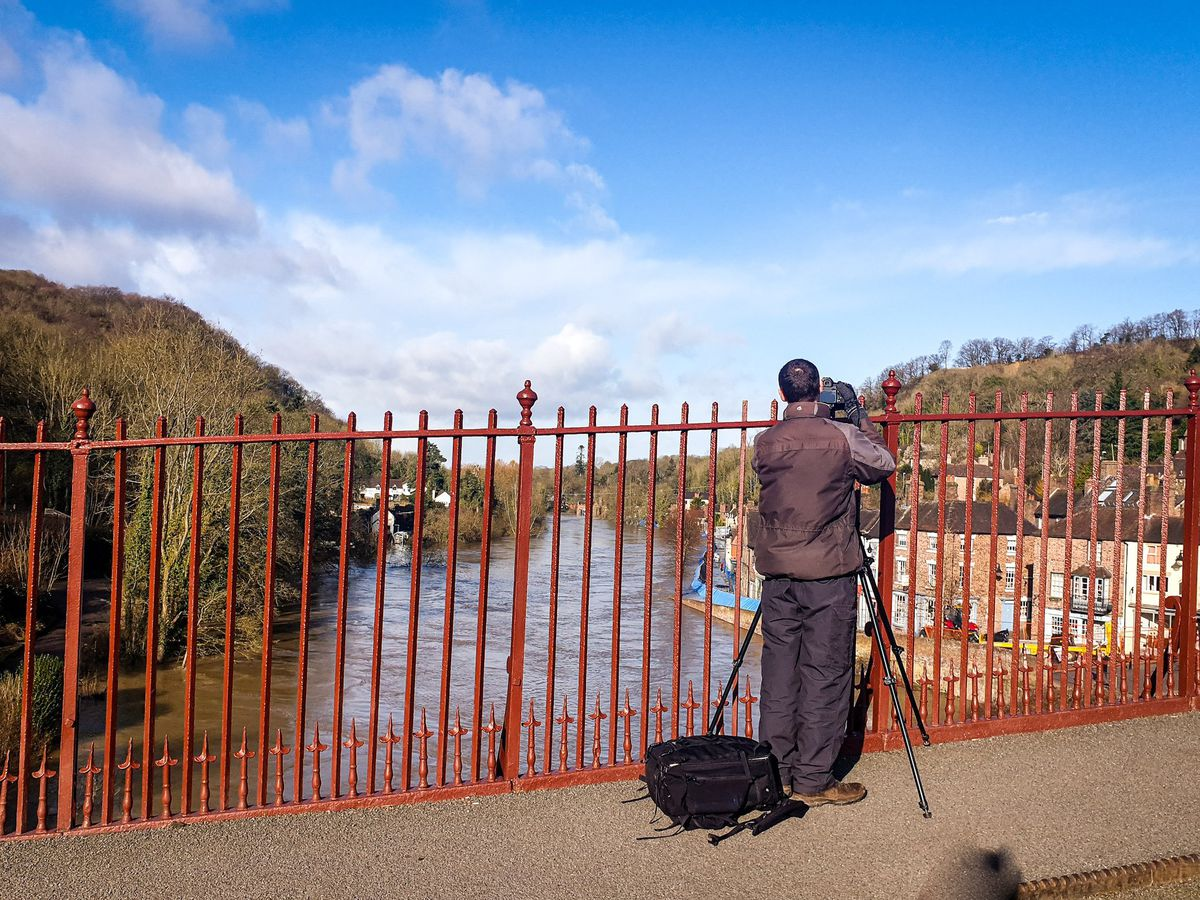 It's been 20 years since the river has been this high, and lots of people are coming out to see it. Photo: Mat Growcott.