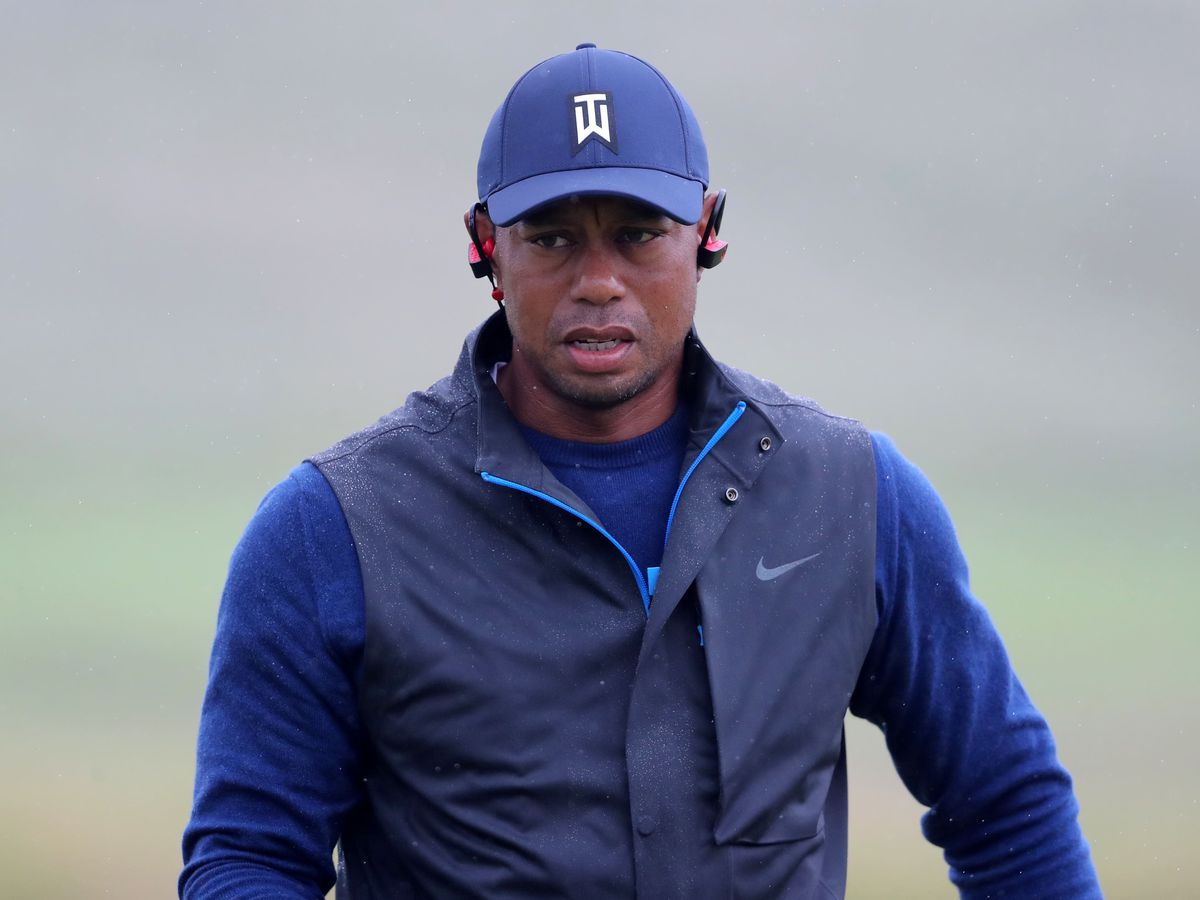 Tiger Woods in action
